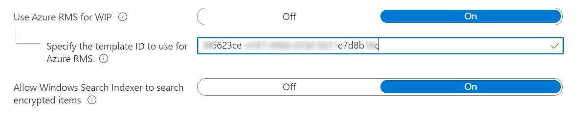 Azure WIP RMS