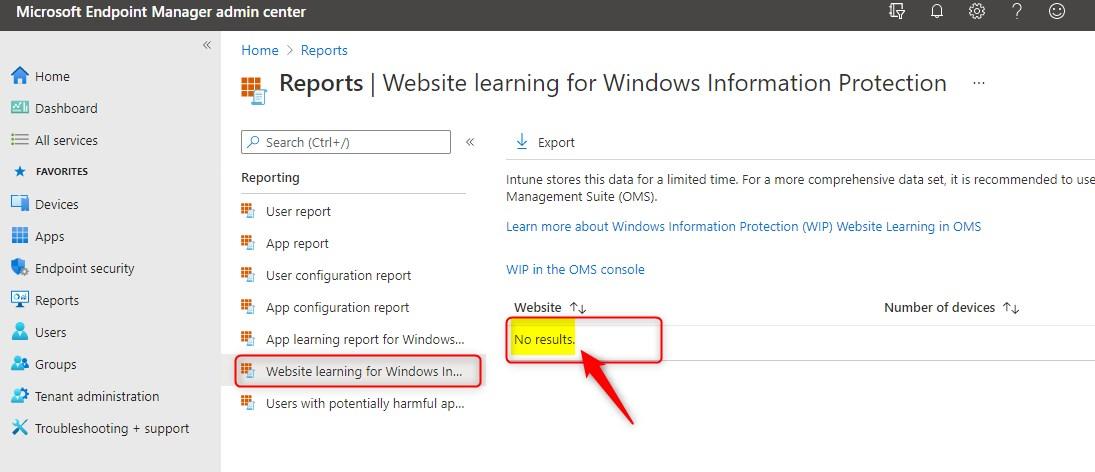 WIP Website learning report