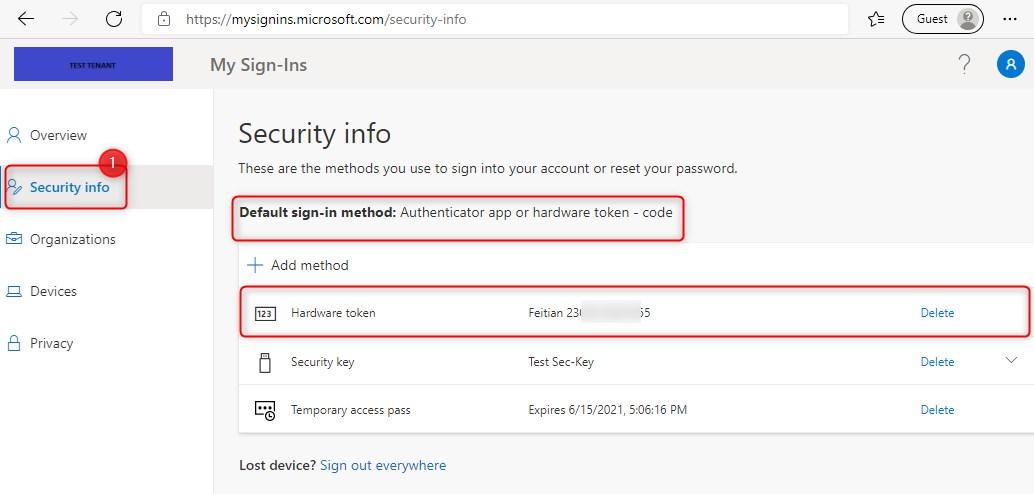 User authentication methods