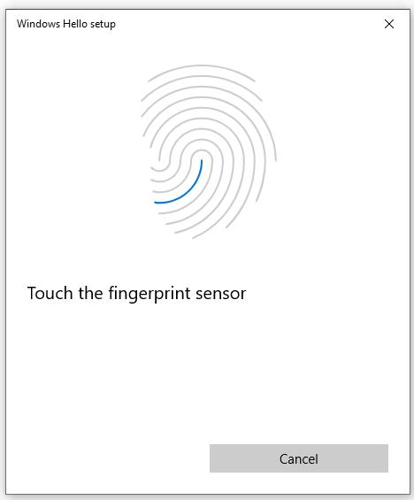 Configure your FIDO2 Security key Fingerprint