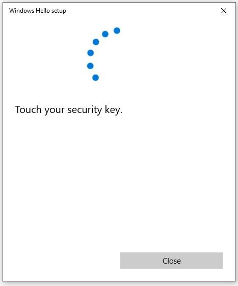 Configure your FIDO2 Security key