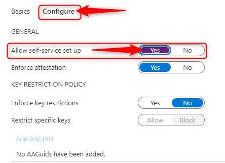 configure Azure AD authentication methods